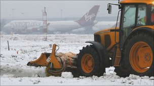 Snow plough at Heathrow