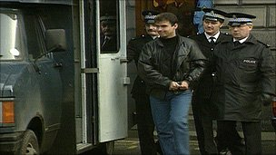 Tommy Sheridan being sent to prison