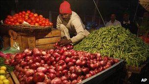 Indian vegetable trader in Allahabad