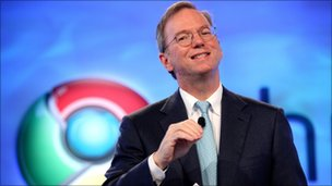 Google's chief executive Eric Schmidt