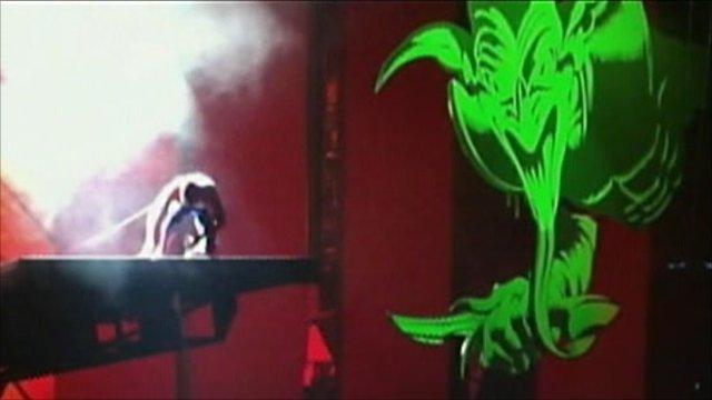 Scene from Spider-Man:Turn off the Dark