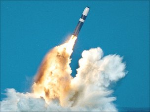 Trident nuclear missile (Pic: US Dept of Defense)