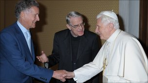 The BBC's David Willey meets Pope Benedict XVI