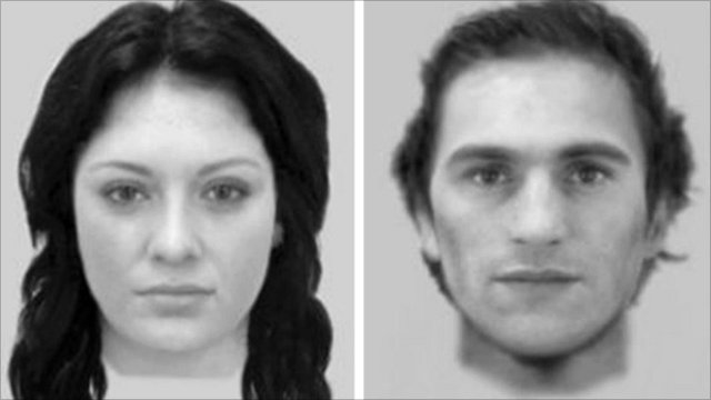 E-fit images of the couple police want to talk to