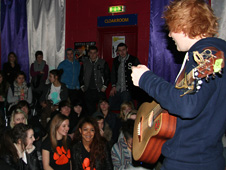 Ed Sheeran with fans at The Waterfront, Norwich