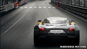 Marussia on the race track