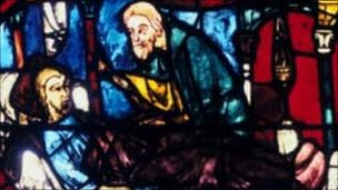 Good Samaritan stained glass window