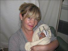 Helen Legh with baby Matilda