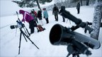 Skywatchers in northern Scandinavia (AFP)