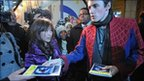 Lead actor Reeve Carney met fans after shows were called off