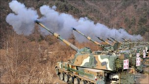 South Korean exercises on 23 December