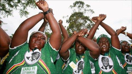 Zanu-PF supporters, Harare, 2010