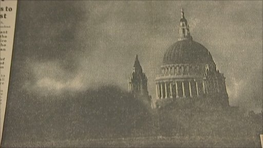 St Paul's Cathedral in the Blitz