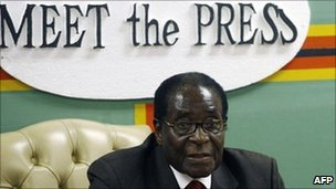 President Robert Mugabe, March 2010