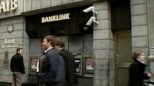 Street with branch of AIB bank