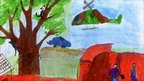 Cats and snails escaping up a tree, by Patrik, 10