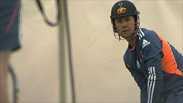 Ricky Ponting batting in