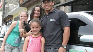 Francisco de Souza with his family