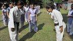 Karate trainers at Sheikh Fazilatunnesa Mujib Women's College