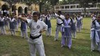 Karate teacher at Sheikh Fazilatunnesa Mujib Women's College