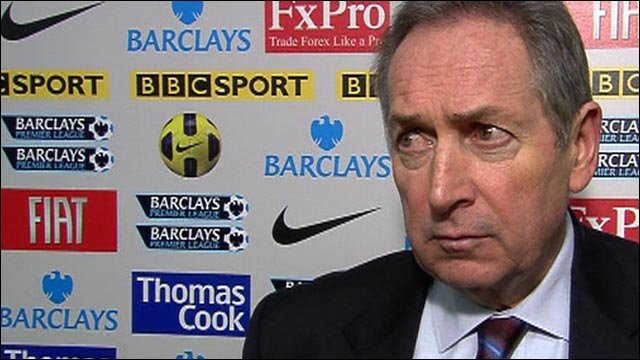 Aston Villa boss Gerard Houllier