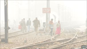 Fog in Delhi on 26 Dec 2010