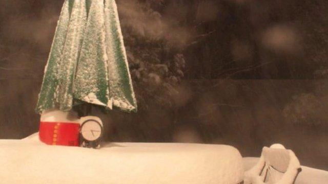 Time-lapse snow