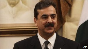 Pakistan&#039;s Prime Minister Yusuf Raza Gilani