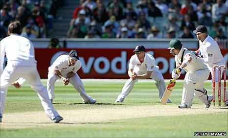 Michael Clarke is caught at slip