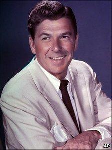 File photograph of Ronald Reagan