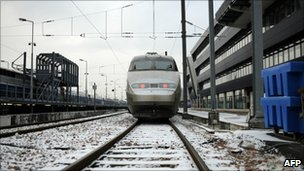 A French passenger train (file image from 2 December)