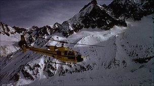 Rescue helicopter in Val D&#039;Isere (file image)