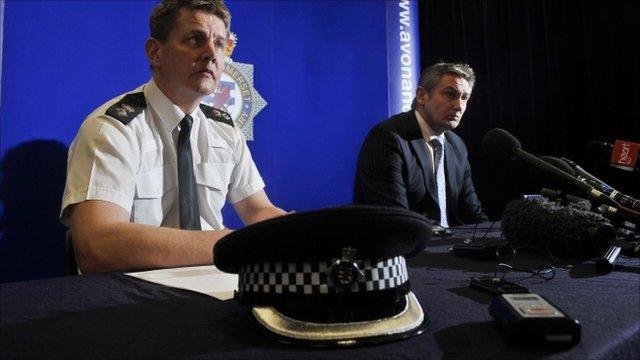 Chief Superintendent Jon Stratford (left) and senior investigating officer Detective Chief Inspector Phil Jones (right)