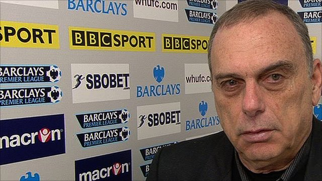 West Ham manager Avram Grant