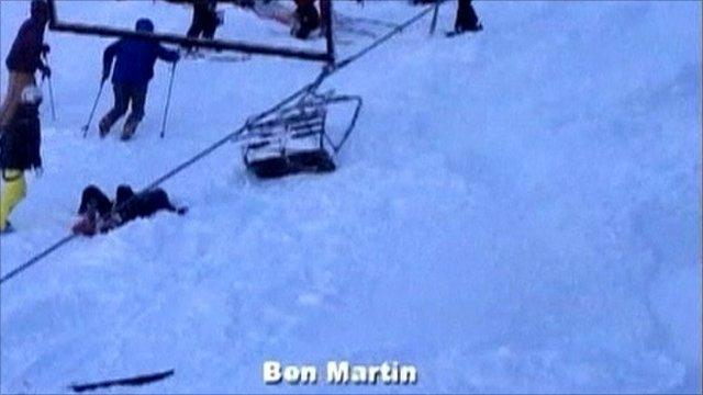 Ski lift accident (courtesy of Ben Martin)