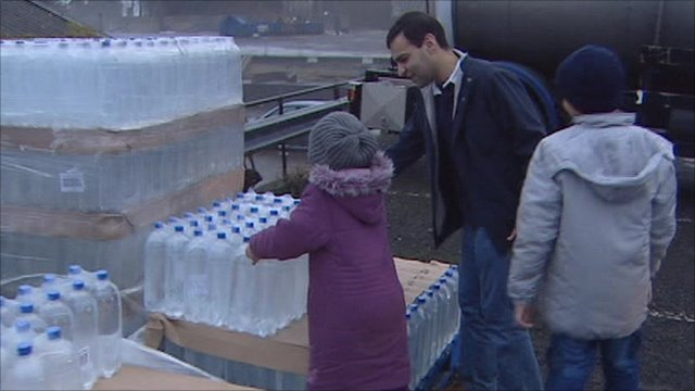 N Ireland residents pick up bottled water