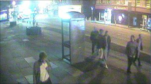 CCTV image of teenagers police want to speak to in connection with Colin Hughes' death