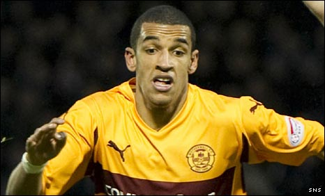 Motherwell striker Nick Blackman