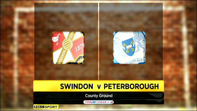 Swindon 1-1 Peterborough