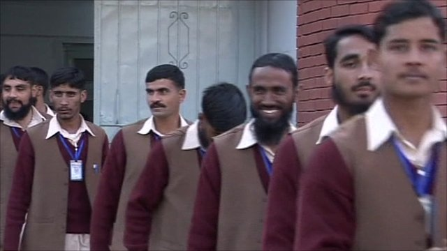 Taliban recruits as they are freed