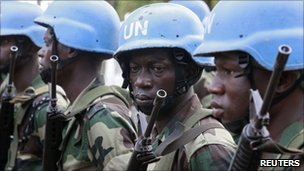 UN peacekeepers in Ivory Coast, file image