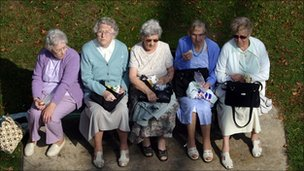 Five elderly ladies in Windsor