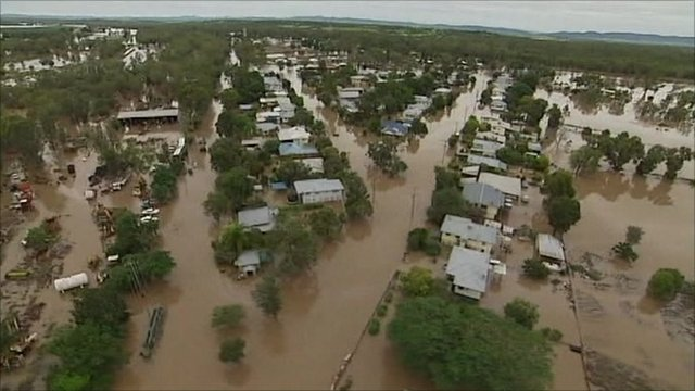 Homes in Australia damaged by sever flooding