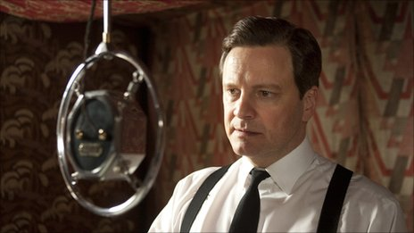 Colin Firth as Bertie (King George VI) in The King's Speech