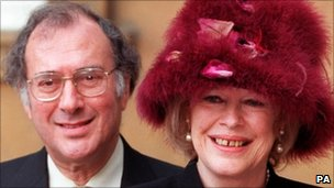 Dame Antonia Fraser with Sir Harold Pinter in 1999
