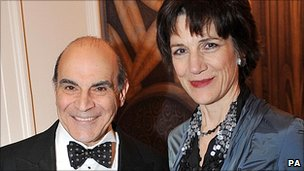 Archive image of David Suchet and Harriet Walter