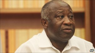 Laurent Gbagbo at his residence, in Abidjan, Sunday, Dec. 26, 2010.