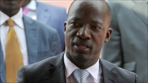 Charles Ble Goude, leader of the pro-Gbagbo Young Patriots student movement on December 7, 2010 