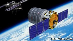 Artist&#039;s impression of Cygnus capsule (Orbital Sciences Corp)