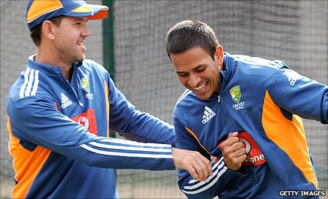 Ricky Ponting and Usman Khawaja